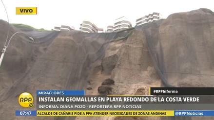 Instalarán 400 mil m2 de geomallas en acantilados de la Costa Verde