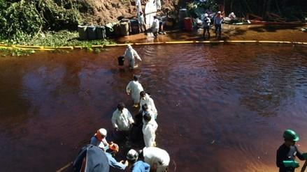 Petroperú continúa con trabajos en zona de derrame de crudo