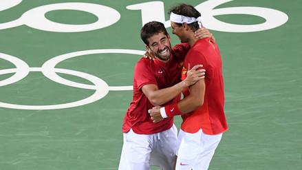 Río 2016: Rafael Nadal lloró al conquistar el oro en dobles de tenis