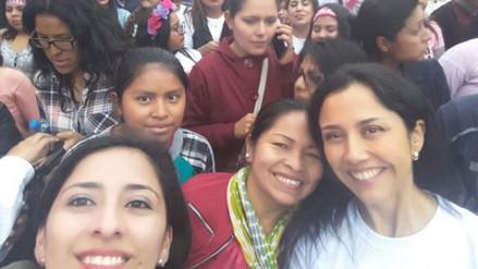 Nadine Heredia participó en la marcha Ni Una Menos