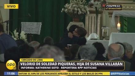 Restos de Soledad Piqueras Villarán son velados en la iglesia La Recoleta