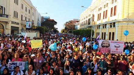 Masiva convocatoria para Ni una menos en Lambayeque