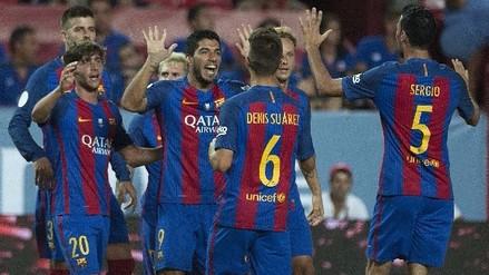 Barcelona venció 2-0 al Sevilla en la ida de la Supercopa de España