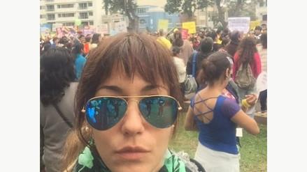 Fotos: Tilsa Lozano participó en la marcha Ni Una Menos