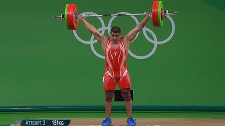 Río 2016: Hernán Viera estableció récord nacional en levantamiento de pesas