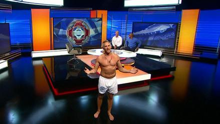 Lineker cumple su promesa y presentó su programa en la BBC en calzoncillos