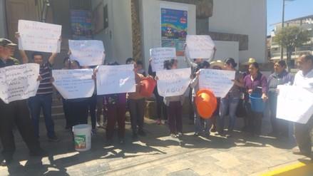 Baños del Inca protesta por falta de agua