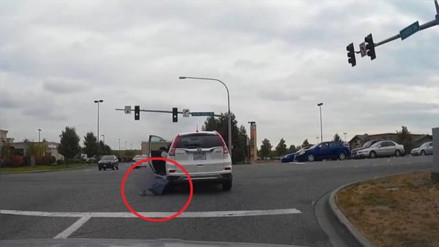 YouTube: mujer fue atropellada por el mismo vehículo que conducía