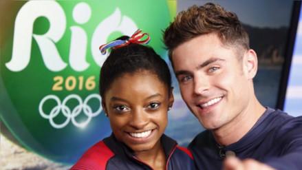 Twitter: Zac Efron sorprende en Río a la gimnasta Simone Biles