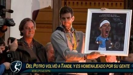 Río 2016: Juan Martín Del Potro fue condecorado en su ciudad natal
