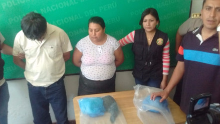 Capturan a dos vendedores de droga con 6 kilos de PBC
