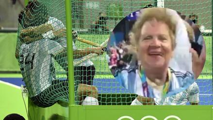 Río 2016: abuela de Los Leones festejó alocadamente el oro en hockey
