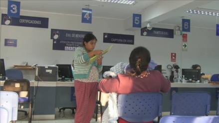 Trujillo: hacen llamado a padres para recoger DNI de recién nacidos