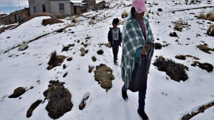 Anuncian nevadas en provincias de Canas, Espinar y Chumbivilcas