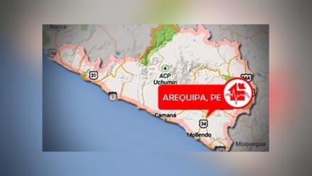 Nuevo sismo de 3.7 grados de magnitud en Arequipa