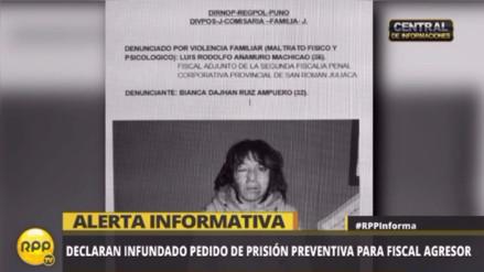 Juliaca: rechazan prisión preventiva para fiscal acusado de agresión