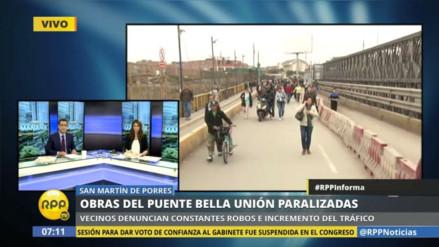 El drama de los que tienen que cruzar el Puente Bella Unión