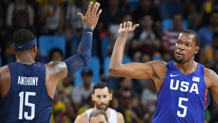 Río 2016: Estados Unidos llegó a la final de básquet tras vencer a España