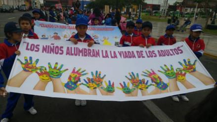 """Trujillo: con colorido pasacalle celebran """"Día Internacional del Niño"""""""