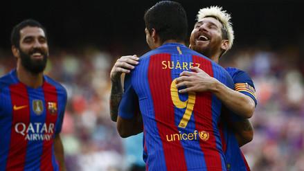 Barcelona aplastó 6-2 a Betis con goles de Lionel Messi y Luis Suárez