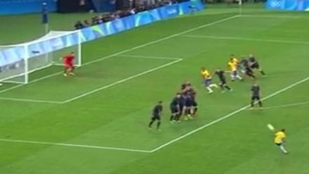 Brasil vs. Alemania: Neymar marcó golazo de tiro libre en la final de Río 2016