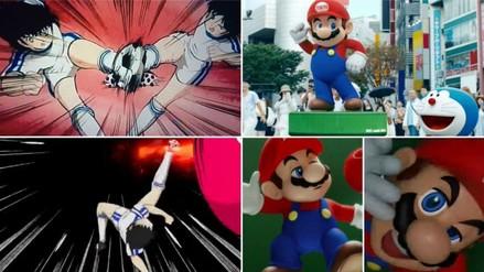 Mario Bros, Oliver Atom y Doraemon en el video oficial de Tokio 2020