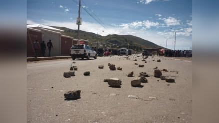 Azángaro: pobladores acatan paro de 48 horas en aniversario