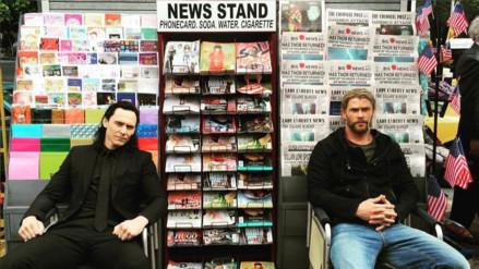 Facebook: Chris Hemsworth y Tom Hiddleston listos para rodaje de Thor Ragnarok
