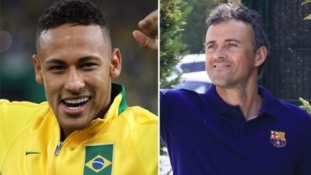 Neymar: Luis Enrique le dio permiso especial por su participación en Río 2016