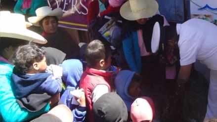 Otuzco: nutren con pescado a niños del ande