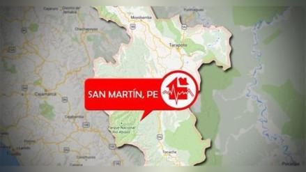 Sismo de 4.7 grados de magnitud remeció región San Martín