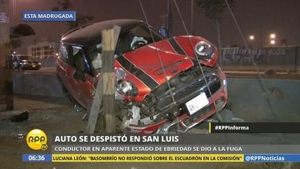 Chofer ebrio causa accidente de tránsito en San Luis