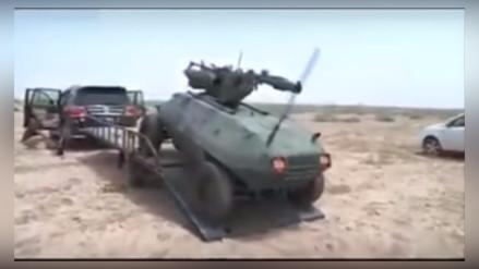 Crean en Irak un robot armado que combatirá contra el Estado Islámico
