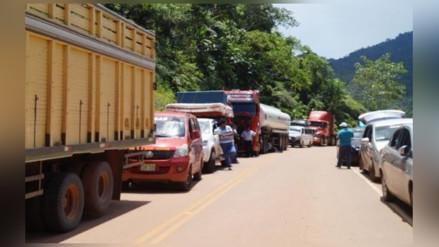 Pase restringido en carretera Belaunde Terry por huelga
