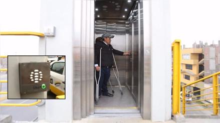 MML inaugura ascensor en puente peatonal con intercomunicador para ingresar