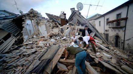 Las imágenes del terremoto que sacudió de madrugada a Italia