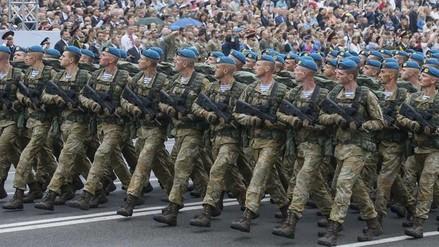 Ucrania celebró su día de la independencia con imponente desfile militar