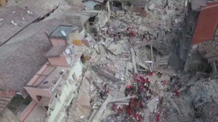 YouTube: el devastador terremoto que golpeó a Italia visto desde un dron