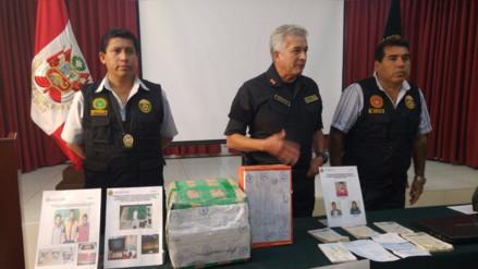 Trujillo: 'clan familiar Gonzales' cae con 9 kilos de PBC