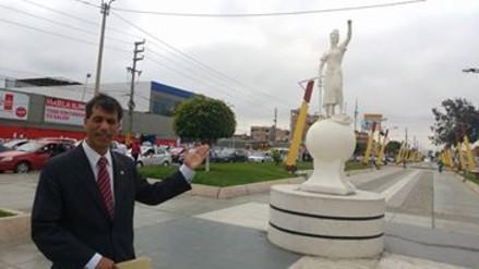 Chimbote: desconocidos roban balanza de estatua de la justicia
