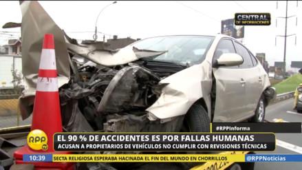 El 90% de accidentes de tránsito se deben a fallas humanas