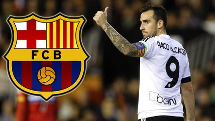 Barcelona confirmó interés por fichar a Paco Alcácer del Valencia