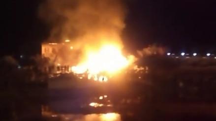 Incendio se registra en centro veraniego de Máncora