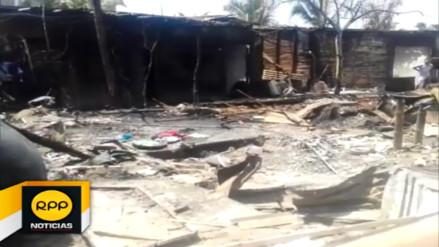 Denuncian que incendio de locales en Máncora fue provocado