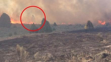 Facebook: fotografían un 'fantasma' en  medio de un incendio en EE.UU.