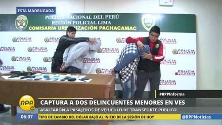 Menores de edad asaltaron bus en Villa El Salvador