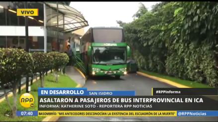 Asaltan a 52 pasajeros de un bus interprovincial que iba de Lima a Arequipa