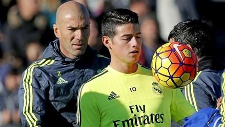 Real Madrid: Zinedine Zidane contará con James Rodríguez esta temporada