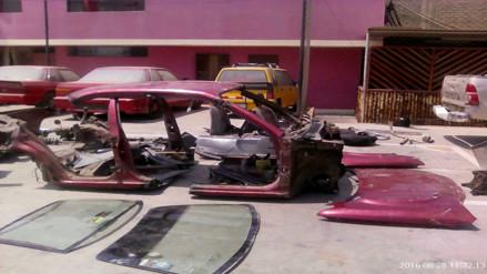 Chimbote: intervienen vivienda donde desmantelaban vehículo robado