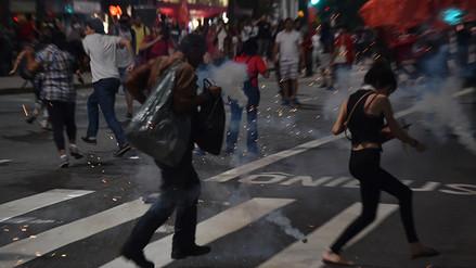 Policía de Brasil se enfrentó a seguidores de Rousseff con gases lacrimógenos